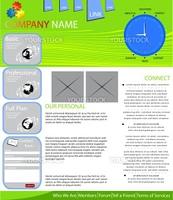 Internet provider web page layout