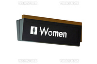 A isolation of a nice womens restroom sign