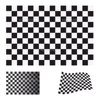 Black and white checkered flag concept ideal icon or symbol