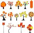 タイトル:Colorful Autumn tree. Vector illustration