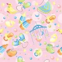 abstract seamless cute baby background vector illustration