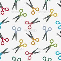 scissors pattern, abstract seamless texture  vector art illustration