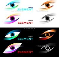 Vector illustration of logo striking eye.