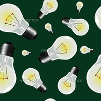 light bulbs seamless texture, abstract pattern  vector art illustration