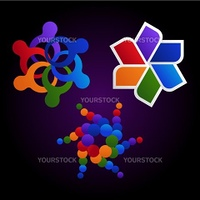 colorful community logo elements
