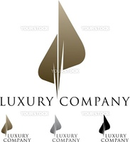 Beautiful luxury business emblem design with variations