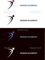 Logo sport templates. Black and white backgrounds. Abstract vector design element.