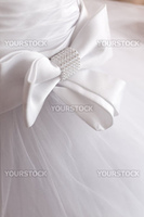Bow on corset of wedding gown