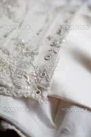 Part of wedding dress corset