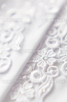 White wedding lace textile background