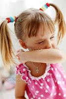 Portrait of a playful child making grimace