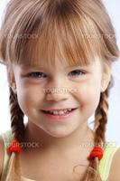 Portrait of funny lovely little girl