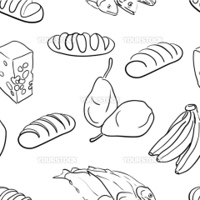 seamless pattern-hand drawn food