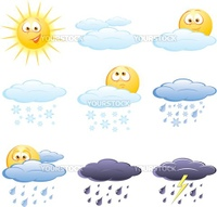 Set of the weather icons