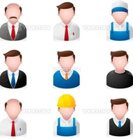 A set of office people icons. Fully editable EPS file format.