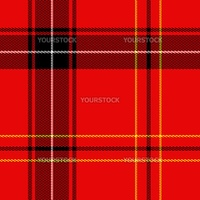 Piece of red and black tartan fabrics. Seamless tile.