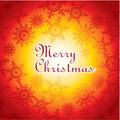タイトル:christmas card illustration with snowflakes