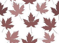 Seamless background made of brown Maple leaves