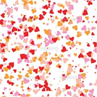 Various little colored heart shapes dancing in the air.Select all the art and drop it into your swatches palette to create an Adobe Illustrator pattern.