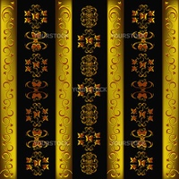 Decorative seamless wallpaper with a golden abstract east ornament
