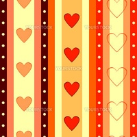 Valentine  striped seamless  background  with hearts (vector)