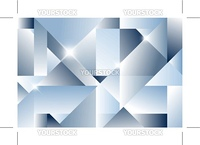 Cubism abstract background - blue version