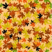 Autumn leaves seamless pattern. Abstract background, easy to edit, copy paste.