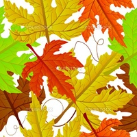 Autumn leaves carpet,  seamless pattern. Abstract background, easy to edit, copy paste.