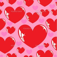 Seamless wallpaper, heart. Vector illustration.