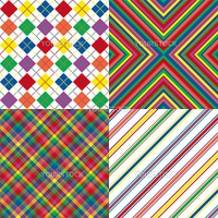Illustration of bright rainbow colored background patterns