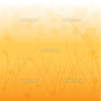 Abstract background with circles on an orange background