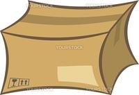 Cardboard shipping box vector illustration