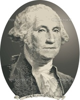 vector George Washington from the US Dollar
