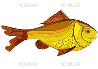 Vector illustration of yellow fish