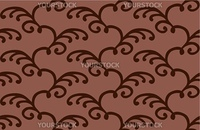 Brown pattern with floral design