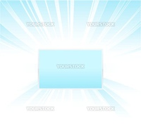 Vector illustration of a beautiful blue glowing background with central shiny board for custom elements.