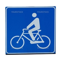 Bike lane traffic sign isolated on white