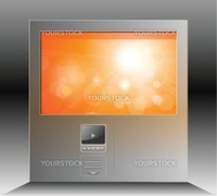 Website template, orange blurry on grey, editable vector