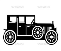 On white background, is made old-time car.