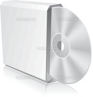 Software CD Box Blank Template. Vector Illustration (EPS 8.0)