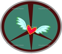 Here is a gentle Peace Sign with Angel Wings and lots of Love.