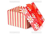 open gift box isolated on a white background