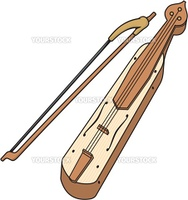Traditional Pontic (eastern black sea) lyre with three strings and a bow.