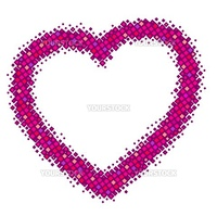 abstract pink vector heart and wite background