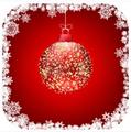 タイトル:Stock vector beautiful christmas red ball illustration christmas card. EPS 8 vector file included