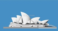Illustrationof the Sydney Opera House - vector