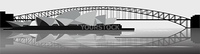 Illustration of the Sydney Harbor Bridge - banner - vector