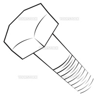 Structure of screw on simple sketch