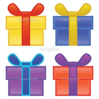 present boxes against white background, abstract vector art illustration