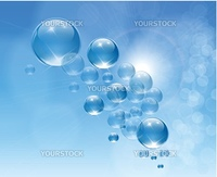 Abstract background purify water with bubbles, vector